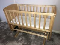 Baby Crib - deluxe gliding crib from Mothercare