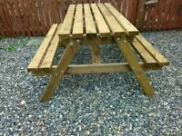 New strong heavy duty pub style picnic bench. 5ft long, treated