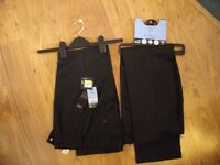 Dark Grey Boys School Trousers Tesco Brand New Age 10-11 years
