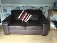 Large leather sofa(Brown)