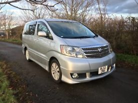 Toyota Alphard 58,374 Miles 2.4 7 Seater High Spec Sports Styling