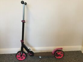 Tijuana Pink and Black fold-up scooter, in excellent condition