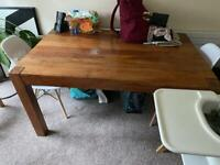 Solid Oak kitchen/dining room table w/ 4 chairs