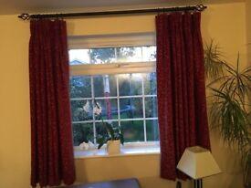 Laura Ashely Curtains - Allegra Raspberry