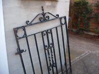 Large, Wrought Iron, Ornate Gate (good condition) High Quality