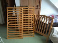 Solid beech wood cot for sale