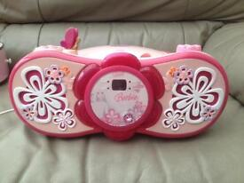 Barbie CD player.