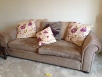 Barker and stonehouse sofas chair and footstool