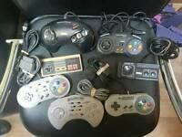 Sega Megadrive, Nintendo 64, Snes control pads