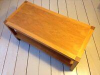 Solid oak Laura Ashley coffee table