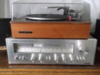 Reduced! Garrard Record Deck & Hitachi Amplifier