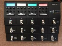 Line 6 M13 Stompbox Modeller with power supply and box