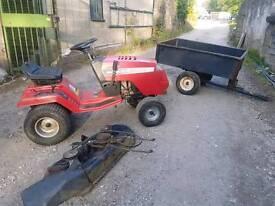 Jonsered Lr12 ride on mower tractor lawnmower +Trailer