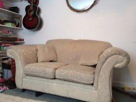 Comfortable and stylish sofa with cushions