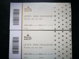 ROYAL ASCOT TICKETS QUEEN ANNE ENCLOSURE - LADIES DAY 21 JUNE