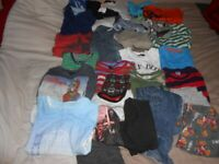 Job Lot Of 50+ Boys Clothes 5-6 Years Bundle Of T-shirts PJs Jeans Brands Inc Next M&Co