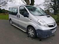 Vauxhall vivaro minibus 9 seater