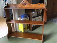 Small Antique Set of Oak Shelves