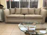 4 Seater Sofa, Snuggle Chair and Pouffe- Derwent (now Parker Knoll)