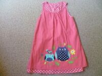 Girls Frugi Dress Aged 5-6 Years (Reversible Dress)