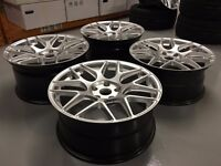 """18"""" HRE FF01 ALLOYS WHEELS TO FIT BMW - SET OF 4 REFURBISHED ALLOYS GLOSS SILVER"""