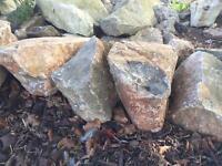 Lots (75-100) Large Rockery Garden Stones / Rocks