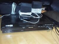 Panasonic DVD player and surround sound 1000w +Sub