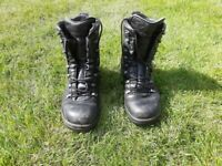 German Army Boots / Leather Work Boots - Size 9W/9.5