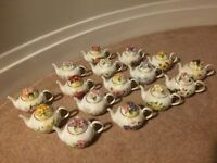 Collection of 16 Royale Stratford cottage teapots