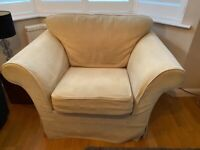 Beige fabric Armchair-furniture village. Excellent quality