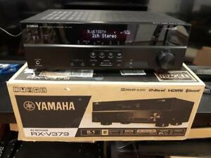 Yamaha RX-V379 BL 5.1-Channel A/V Receiver with Bluetooth - New Open Box!