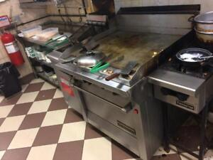 Garland Griddle With Oven - Auction This Week of Complete Restaurant - STOREY'S - 519-641-2844