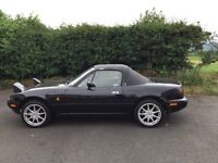 Mazda mx5(97). 1.6 soft top. Late mk1 model. Full years mot. Clean/solid car. Must be seen.