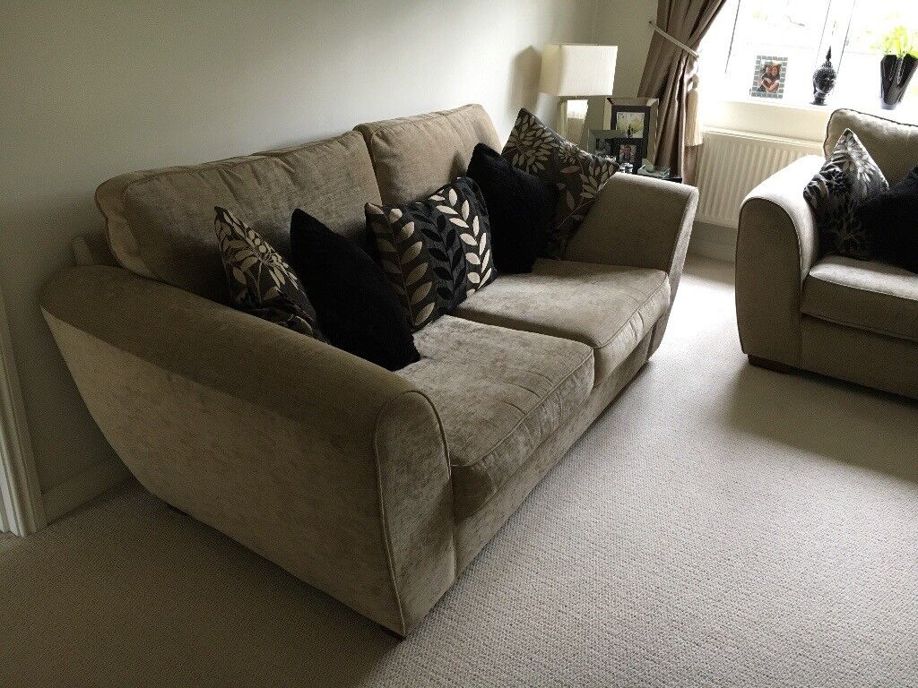 Two large three seater sofas