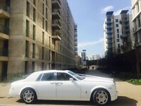 Rolls Royce Phantom and Bentley flying spur wedding car hire in London and all surrounding areas
