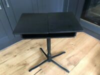 Black desk - strong, beautiful and practical. Adjustable height & width.