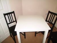 2 IKEA Chair with Dining Table