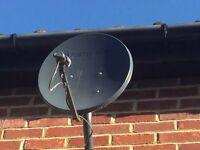 Satellite Dish Fortecstar plus receiver