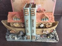 Noah's Ark hand painted book ends