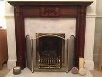 Great condition fire surround 130cm wide 110cm high BARGAIN at only £25!!