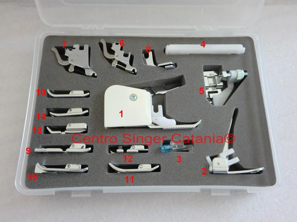 Kit 15 Piedini Universali Set Accessori per Macchina Macchine da per Cucire