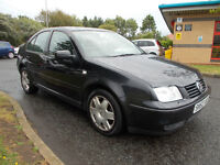 VOLKSWAGEN BORA S 1.9 TDI DIESEL SALOON BLACK 2002 LONG MOT BARGAIN ONLY 550 *LOOK* PX/DELIVERY