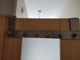 Ikea silver door hanger - 6 hooks for coats, bags, hats etc