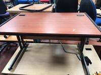 1400MM Metal Frame Straight Desk (Dark Wood Effect)