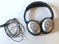 Bose QuietComfort 2 Noise Cancelling headphones - black and silver