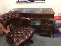 Captain's chair and desk set. Beautiful condition only selling as slightly too small for my needs.