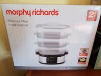 Morphy Richards Food Steamer Stainless Steel - BRAND NEW