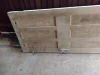 3 solid wooden doors