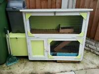 Small hutch with added nest box