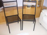 Garden Chairs black metal with Tiled backs